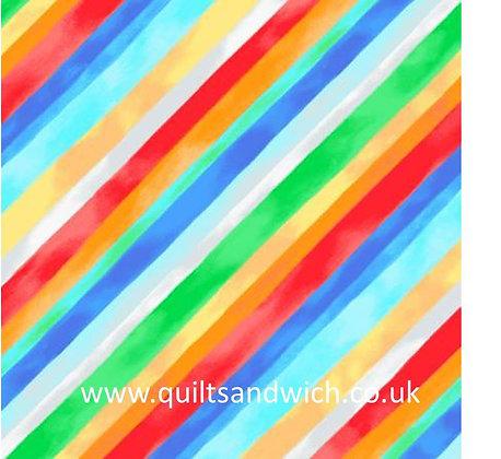 Diagonal Stripe Multi - 108inches  wide