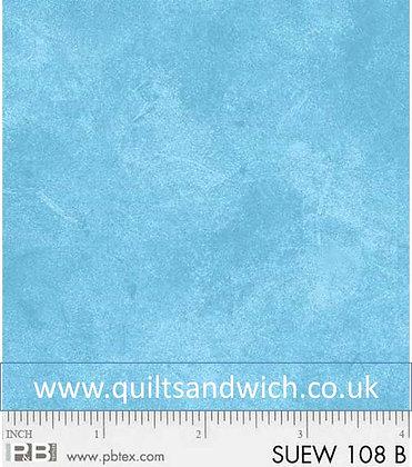 P & B Suede light blue per qtr metre
