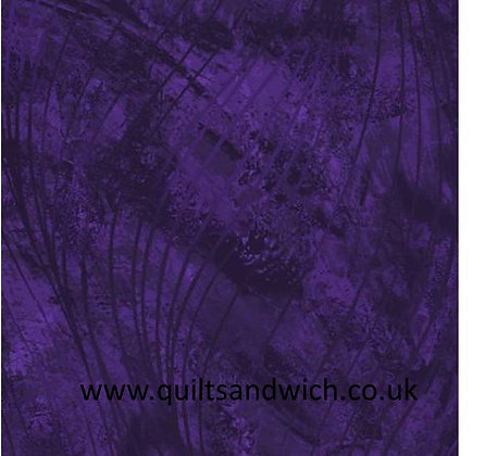 Go with the Flow - deep Purple 108 inches  per qtr mtr