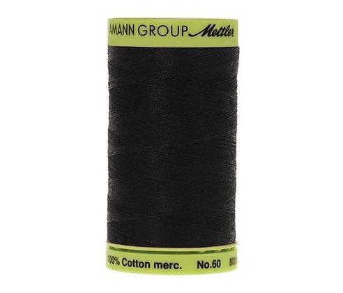 Mettler 800m 4000 Black Silk Finish Cotton 60 weight