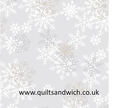 Snowflakes light grey108 inches  per qtr mtr