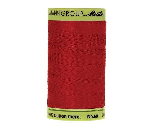 Mettler 800m 0504 red  Silk Finish Cotton 60 weight