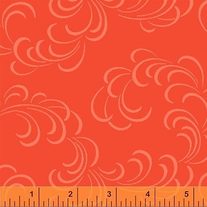 Whistler Coral Feathers - per quarter metre