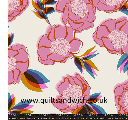 Rise BIG Ruby Star Shell 108 inches wide per qtr metre