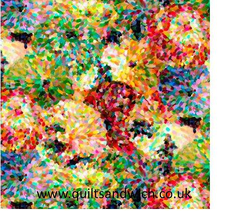 Impressionist Floral multi 108 inches  per qtr mtr
