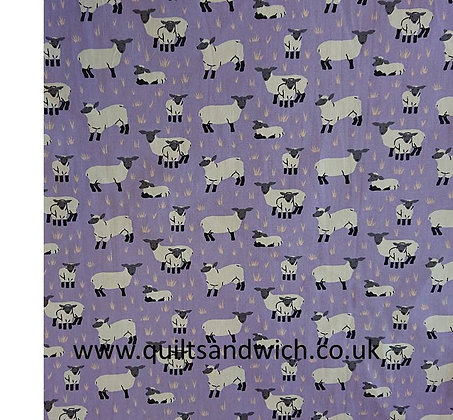Lucy Lamb Lilac 150 wide  qtr metre