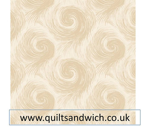 Henry Glass Breezy cream per qtr metre