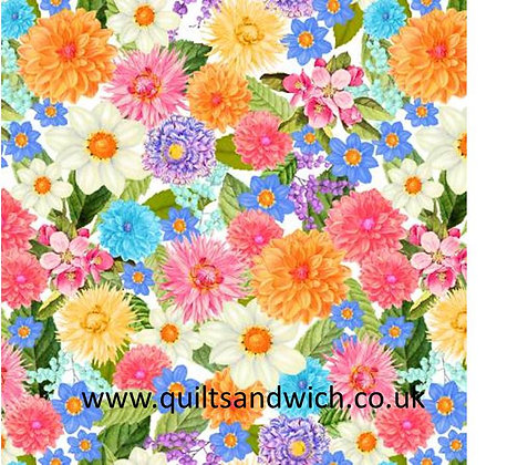 Floral Multi - 108inches  wide