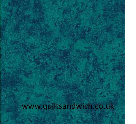 Teal Crackle 108inches  per qtr metre