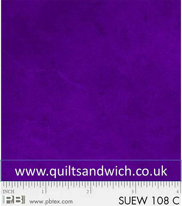 P & B Suede Purple per qtr metre