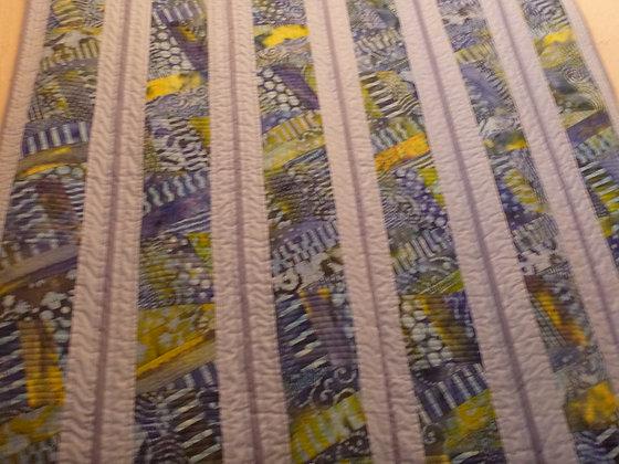 Blue Batik Quilt - Single bed size