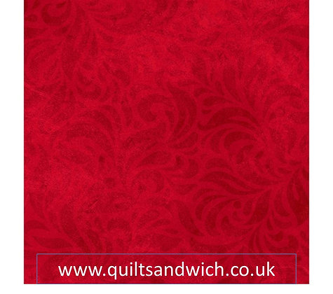 P & B   Bella Suede Bright Red per qtr metre