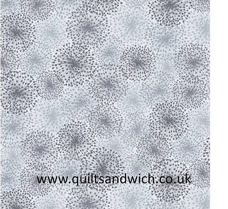 Dandelion Dreams Light Grey 108 inches  per qtr mtr