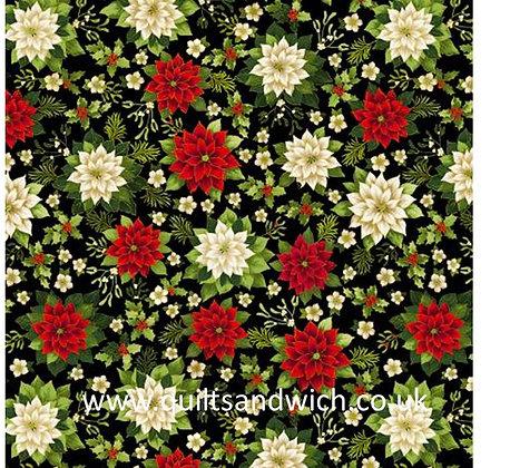 Joyous Garden Black multi 108inches  per qtr metre
