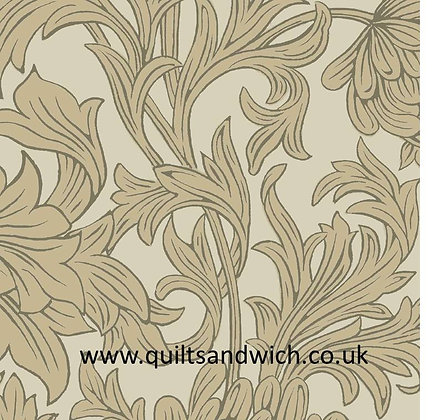 Taupe Chrysanthemum by Morris   per qtr metre
