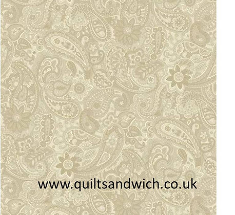 P & B Natural Paisley 108 inches  per qtr mtr
