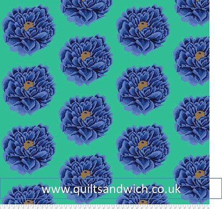 Kaffe Fasset Blue Flower  108inches wideper dtr m