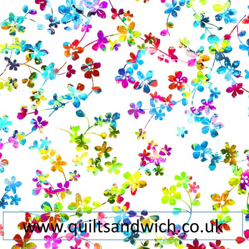 Watercolour Meadow 87 Per Qtr Metre Quiltsandwich