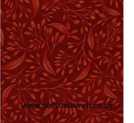 Dark Red Flourish Alessia 108inches wide  per qtr metre