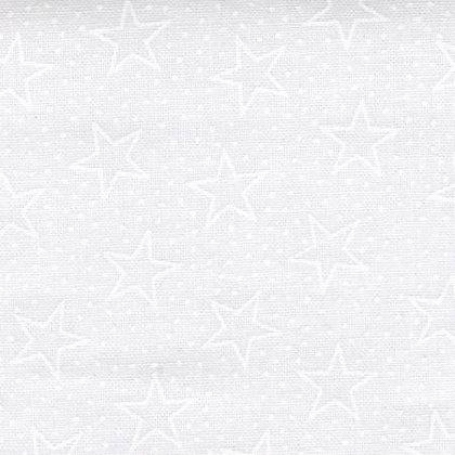 White on White Stars- 43inches - per qtr m
