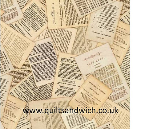 Vintage Books  108inches wide  per qtr metre