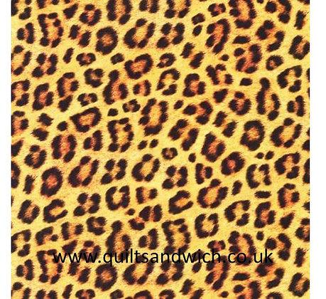 Leopard Cotton Sateen 108inches wide  per qtr metre