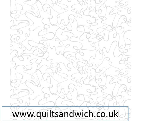 Touch of White (white on White) Squiggles  per qtr metre