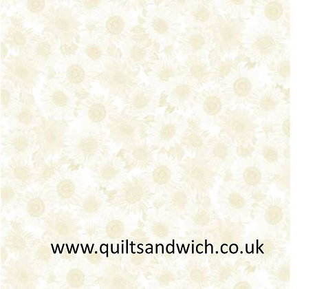 Sunflower - cream - 108inches  wide
