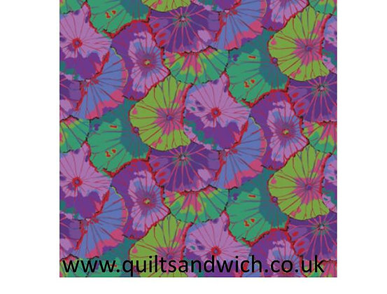 Kaffe Fassett Lotus Leaf Purple  108 wide per qtr Metre
