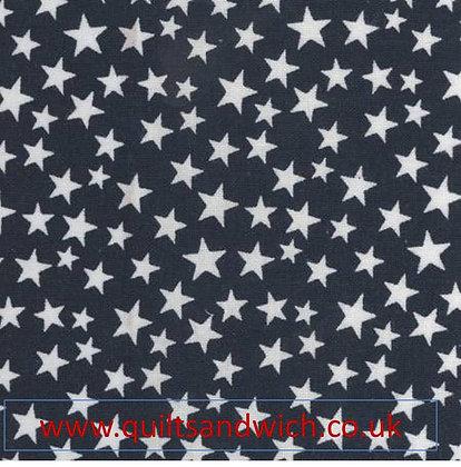 Navy Stars  per qtr metre