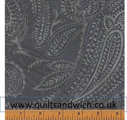 Windham Paisley Grey blue per qtr metre
