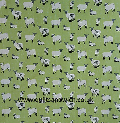 Lucy Lamb Green 150 wide  qtr metre