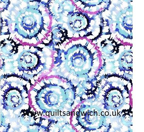 SpinArt blue fushia 108inches  per qtr metre