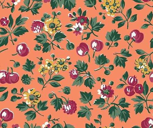 Liberty Wild Cherry orange per quarter metre