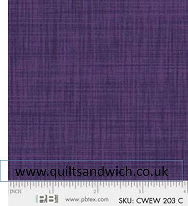 P & B Colour weave  C  (purple)  per qtr metre