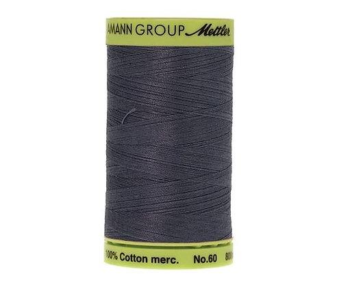 Mettler 800m 0311 dark slate blue Silk Finish Cotton 60 weight