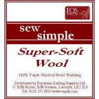 Sew Soft Super Soft Wool Wadding  90 inches wide- per Metre