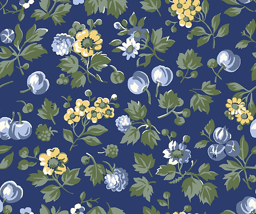 Liberty Wild Cherry blue per quarter metre