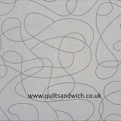 Squiggle Grey 108inches  wide per qtr metre