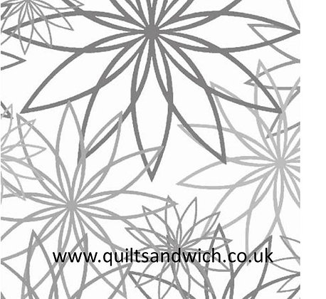Star Flower Grey 108inches  per qtr metre