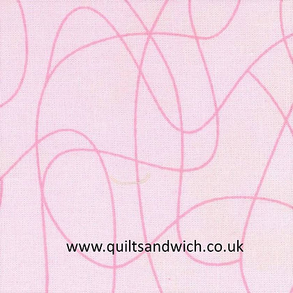 Squiggle Pink 108inches wide x 93 inches
