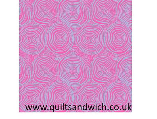 Kaffe Fassett Onion Rings Pink 108 wide per qtr Metre