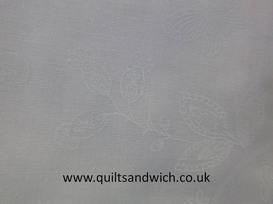 White on White Butterflies 108inches  per qtr metre