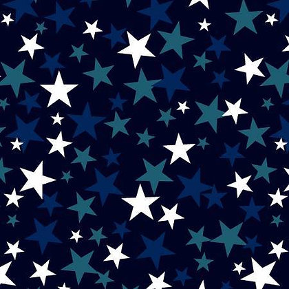 Patriotic Stars - Navy -  108inches  wide