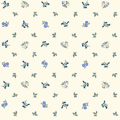 Liberty Pome blossom blue  per quarter metre