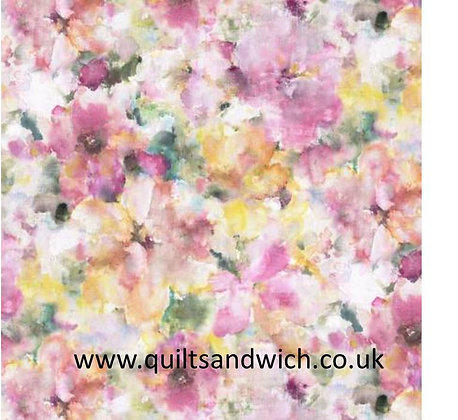 Pink Watercolours 108inches  per qtr metre