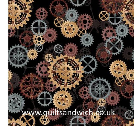 Gears Black- 108inches  wide