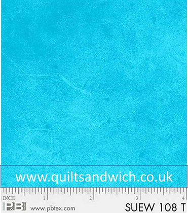 P &B Suede Turquoise per qtr metre