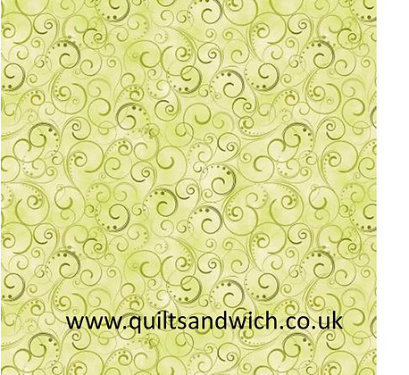 Moss Swirling Splendor 108inches  per qtr metre