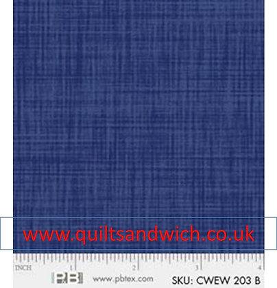 P & B Colour weave  dark blue per 108inches x 44 inches
